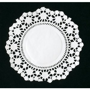 White Round Doyleys - 4.5¨