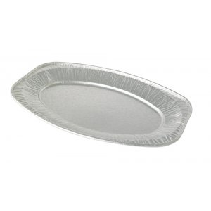 Oval Embossed Heavy Weight Foil Platters - 43cm/17