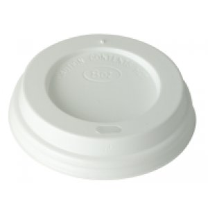 White/Black Domed Sip-thru Lids