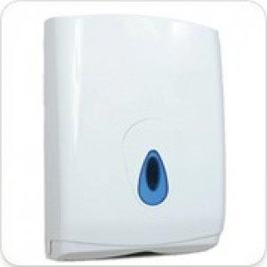 Evolution White Plastic Large Hand Towel Lockable Dispenser