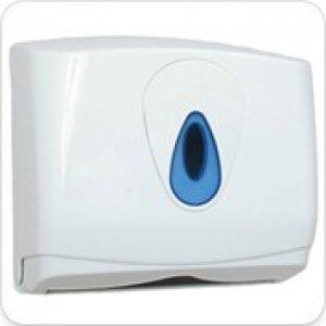 Evolution White Plastic Small Hand Towel Lockable Dispenser