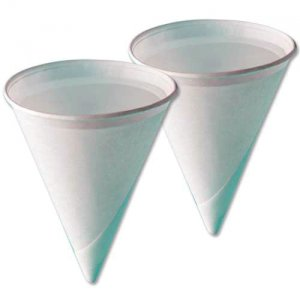 Plain White Water Cone Cups