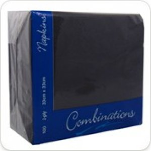 Combinations Dinner Napkins - Black