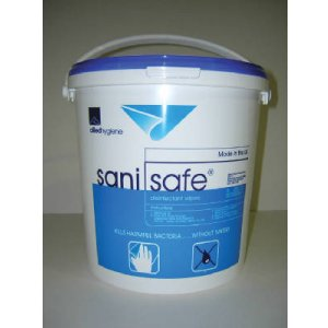 Sani Safe Plus Sanitizing Surface Wet Wipe Blue Polycotton 1000 Wipes