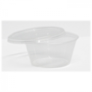Satco Clear Round Containers & Lids - 4oz