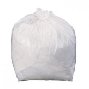 Heavy Duty Pedal White Bin Liners